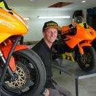 New Zealand Supersport 600 Championship rider Seth Devereux, at home in his Tapanui workshop,...