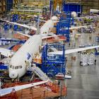 The Boeing 787 Dreamliner production line in Seattle, which delivered Air New Zealand's first...