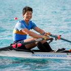Japanese rower Daichi Nakamura competes for the Otago University Rowing Club at last weekend's...