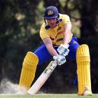 Christi Viljoen gets the ball away in a intersquad game at Sunnyvale on Thursday. Photo: Peter...