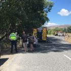 Emergency services were called to a crash near Alexandra this afternoon. Photo: Pam Jones