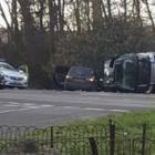 An image of the Duke of Edinburgh's crash scene from ITV. Photo: ITV