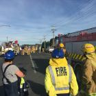 Firefighters on Gormack St Balclutha where there has been a house fire this morning. Photo:...
