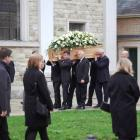 The funeral for the murdered backpacker took place at the cathedral in Brentwood. Photo: Echo via...