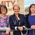Amity Health Centre Practice Nurse Anna Boyd, Dr Susie Lawless and Practice Manager Catherine...