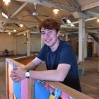 OUSA president James Heath in the top floor of the University Book Shop building in Dunedin....