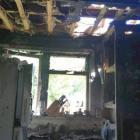 Paniora Calvert's fire-damaged home. Photo: Supplied