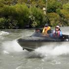 About 20 boats from the Otago Branch of Jet Boating New Zealand, pictured on the Matukituki River...