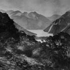 A view from the saddle at Lake Howden, showing Lake Gunn and part of Lake Fergus in the...