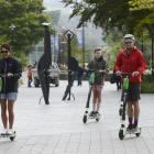 Lime scooter users are not allowed to go through the University of Otago campus, but a group was...