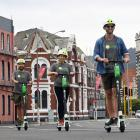 Taking the Lime e-scooters for a spin down the Cumberland St shared cycle path before the launch...