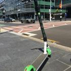 A Lime scooter in Auckland.