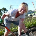 Telford operations manager Lisa Snell takes part in a morale-boosting volunteer working bee by...