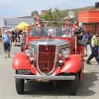 "Kurow Volunteer Fire Brigade chief fire officer John Sturgeon offers rides yesterday on ""Henry'',..."
