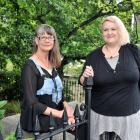 University of Otago ''pagan chaplain'' Tracey Crampton Smith (left) with post-graduate student...