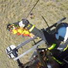 A man who had a heavy landing while paragliding at Treble Cone yesterday was flown to the Lakes...