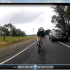 A still from a video captured on Wednesday night showing a motorist crossing the centre line on...