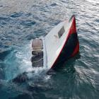 The sunken boat. Photos: Supplied
