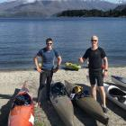 Father and son Linden (left) and Simon Brackstone, of Queenstown, will take on the two-day...