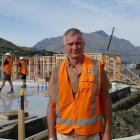 Lakes Marina Projects partner Alan Kirker at the new Frankton marina site on Tuesday. Photo:...