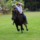 The double-banking event is just one of the quirky features of the Glenorchy Races.
