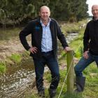 Waimakariri Irrigation Ltd's Paul Reese (left) and Environment Canterbury's Zeb Etheridge are...