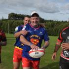 Getting ready for the Spartans 10s tournament at Miller Park this weekend are (from left) Shane...