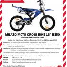 The Milazo motocross bike has been recalled after the discovery that its rear brake may fail....