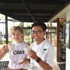 Amy and Andrew Hou at their Roslyn cafe, which has been forced to change its name. Photo: Peter...