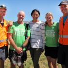 Run the Ridge celebrities and organisers (from left) former Black Cap Shayne O'Connor,  former...