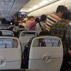 Passengers on an Air New Zealand flight which ended up where it left after a five-hour trip....