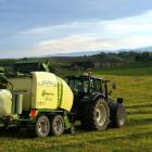 Baleage being made on a North Otago farm. PHOTO: NORTH OTAGO DITCHING & BALING