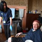Care from health workers such as Helen Cockerell mean Brian Sinclair (87) can continue to live in...
