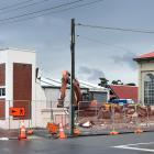 Buildings at an end on the corner of Bauchop and Ward Sts in Dunedin. Photo: Peter McIntosh.