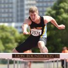 Cameon Moffitt (15) 110m hurdles at the Caledonian Ground on Saturday afternoon. PHOTO:Gregor...