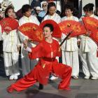Susan Xu (48) and other members of the Dunedin Tai Chi Club join the festivities while...
