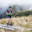 Dougal Allan competes in the mountain running stage of the 1 day individual competition during...