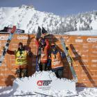 Wanaka skier Craig Murray celebrates his maiden win on the Freeride World Tour, which was staged...
