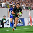 Toni Pulu in a friendly between Japan and World XV at Osaka last October. Photo: Getty Images