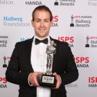 Adam Hall with the Para Athlete/Team of the Year award at last night's Halberg Awards in Auckland...