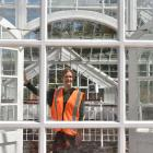 Dunedin Botanic Garden information services officer Clare Fraser prepares for a busy time at the...