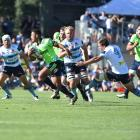 The Highlanders and the Waratahs pre-season rugby match at Molyneux Park. Photo: Peter McIntosh