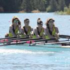 The Wanaka novice crew of (from front): Hayley Ambrose, Emily Findlay,  Ruby Boyd, Pipi Horan and...