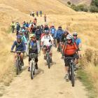 A cycle trail on the Otago Goldfields Cavalcade leaves Timburn Station in the Lindis Pass...