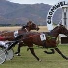 Trainer-driver Kirstin Barclay steers Just Say Go to hold out Ice Crusher  for an upset win at...