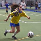 Megan O'Malley is one of the many players who now enjoy a regular game of futsal. Photo: Gregor...
