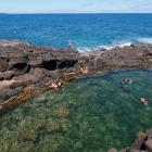 The Mermaid Pools could be temporarily closed by a local hapū over environmental concerns. Photo:...