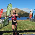 Queenstown athlete Nancy Jiang crosses the finish line to win the women's section of the Shotover...