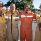 Canterbury volunteer firefighters left to right: Ewen Peat, Neville Barkhausen, Justin Gilmore...