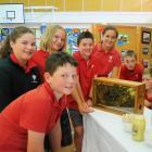 Pupils from Ranfurly's St John's School (from left) Jake Smith (11), Ella Gibson (12), Alivia...